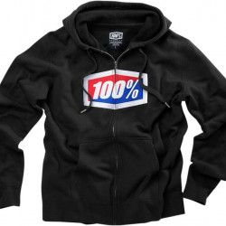 FLEECE ZIP OFFICIAL Μαύρο XL